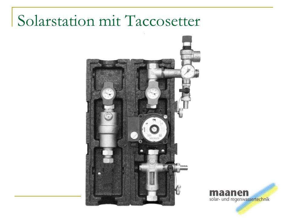 Solarstation mit Taccosetter
