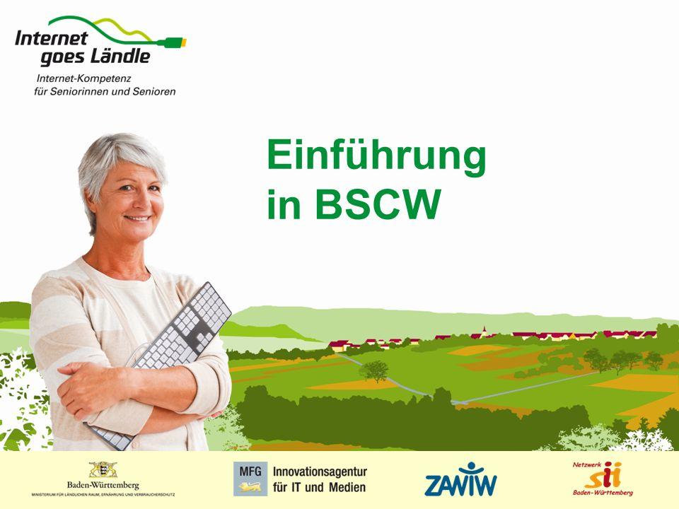 1 MUSTERPRÄSENTATION 09.01.2008 1 Einführung in BSCW