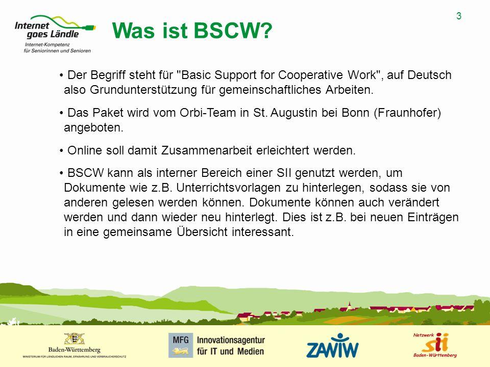 4 MUSTERPRÄSENTATION 09.01.2008 4 Registrierung bei BSCW Geben Sie in Ihren Browser die Adresse http://public.bscw.de ein, damit landen Sie auf der auf dem Bild angezeigten Seite.