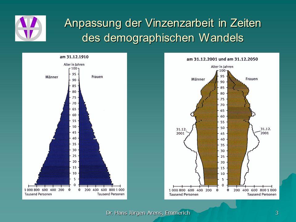 Dr. Hans Jürgen Arens, Emmerich 3 Anpassung der Vinzenzarbeit in Zeiten des demographischen Wandels