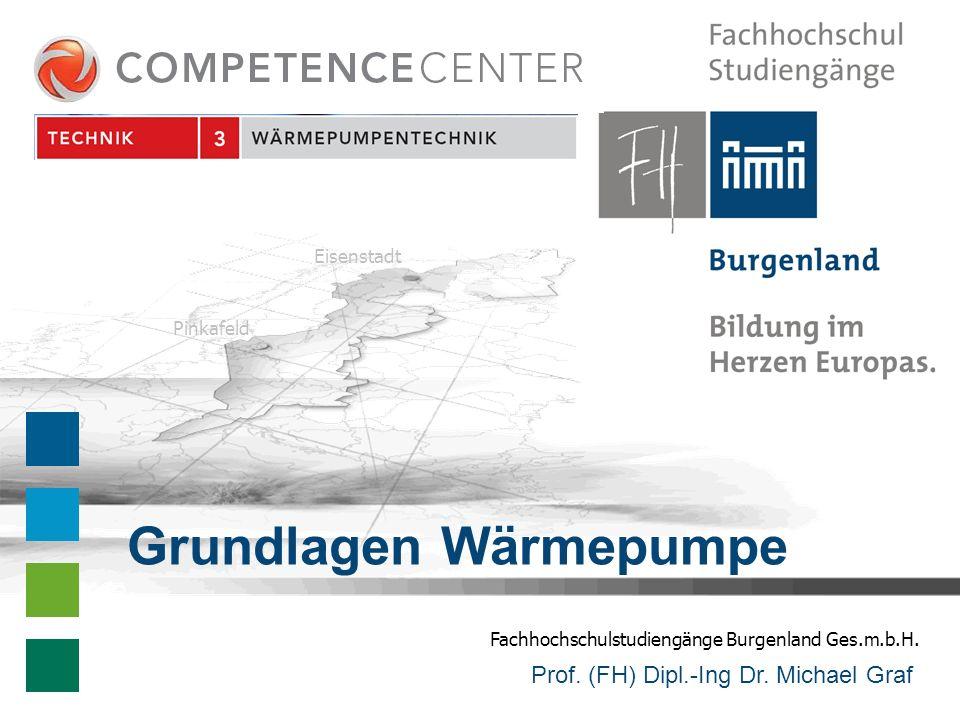 Fachhochschulstudiengänge Burgenland Ges.m.b.H. Eisenstadt Pinkafeld Prof. (FH) Dipl.-Ing Dr. Michael Graf Grundlagen Wärmepumpe