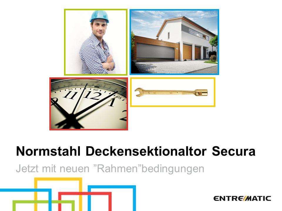 Normstahl Deckensektionaltor Secura Jetzt mit neuen Rahmenbedingungen