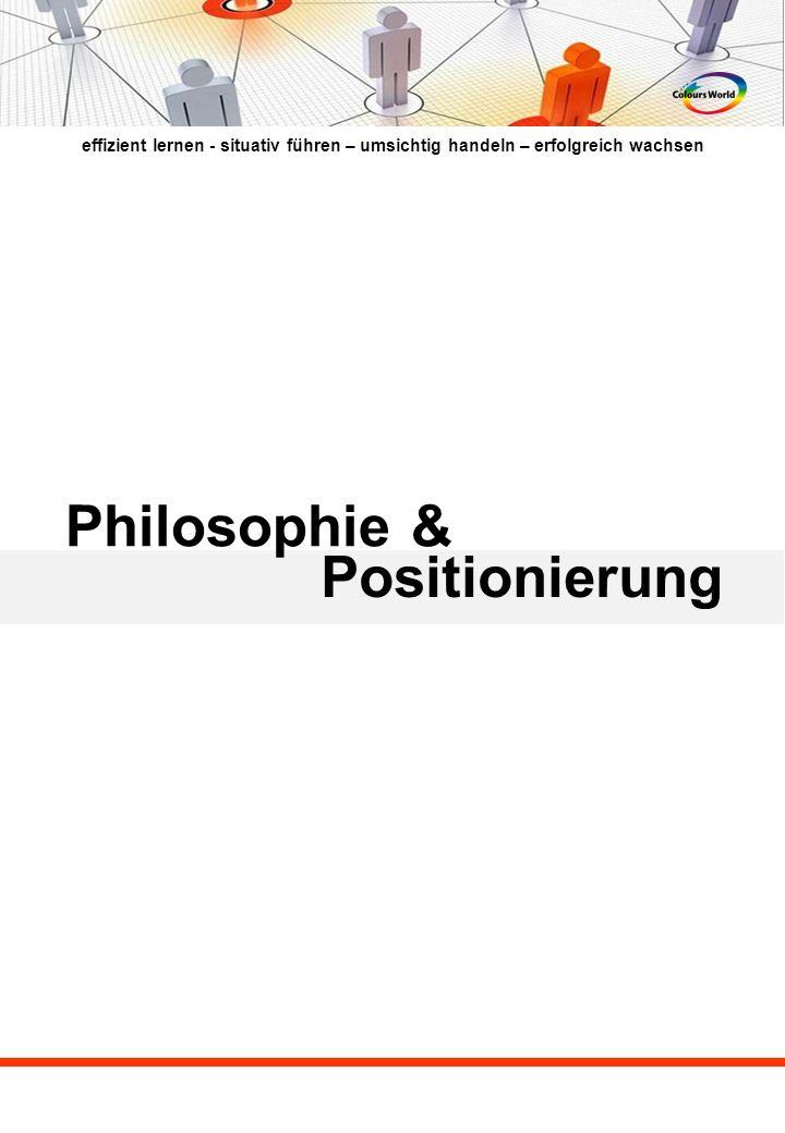 effizient lernen - situativ führen – umsichtig handeln – erfolgreich wachsen Philosophie & Positionierung