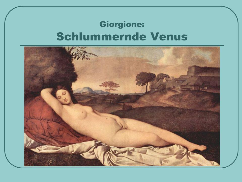 Giorgione: Schlummernde Venus