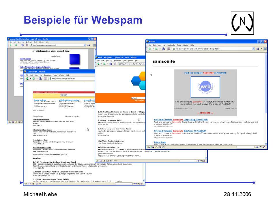 28.11.2006Michael Nebel Beispiele für Webspam