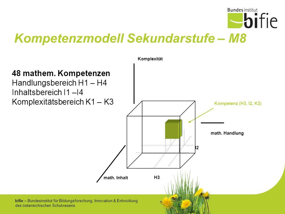 bifie – Bundesinstitut für Bildungsforschung, Innovation & Entwicklung des österreichischen Schulwesens Kompetenzmodell Sekundarstufe – M8 48 mathem.