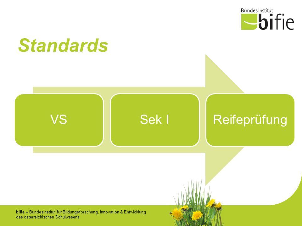 bifie – Bundesinstitut für Bildungsforschung, Innovation & Entwicklung des österreichischen Schulwesens Standards VSSek IReifeprüfung