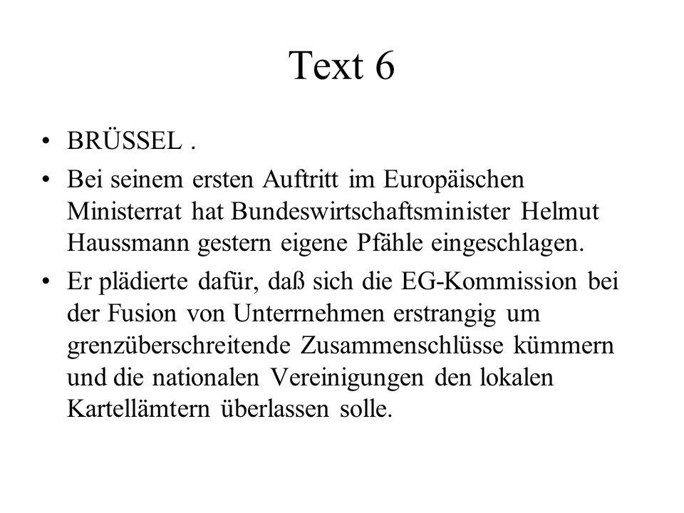 Text 6 BRÜSSEL.