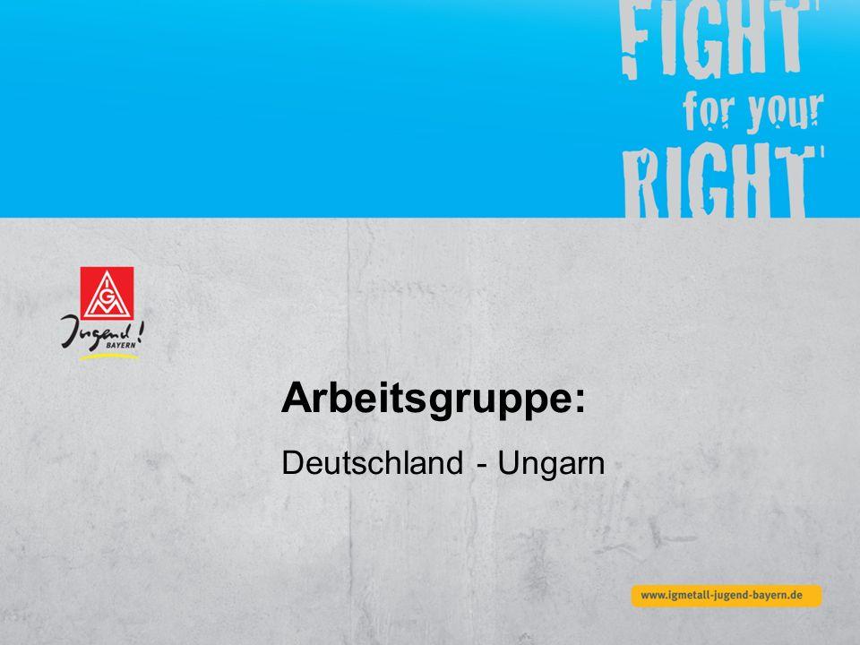 Arbeitsgruppe: Deutschland - Ungarn