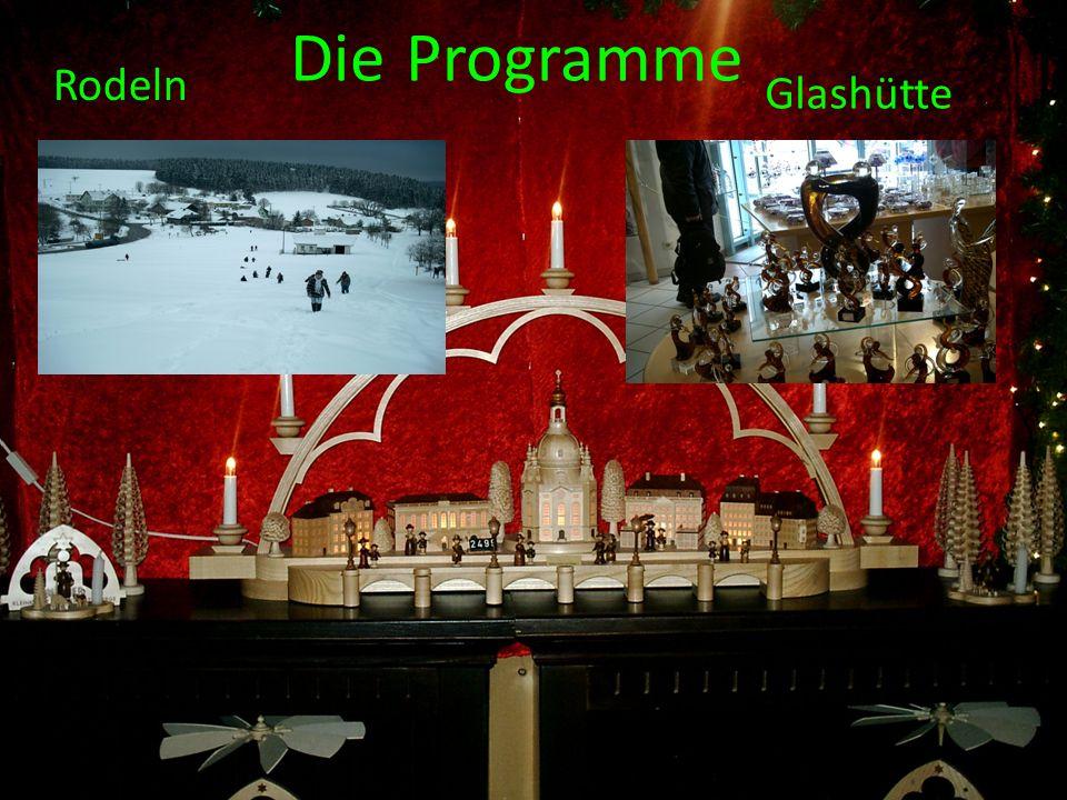 Die Programme Rodeln Glashütte