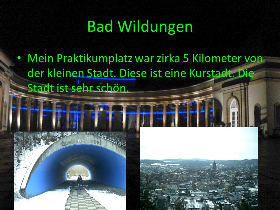 Bad Wildungen Mein Praktikumplatz war zirka 5 Kilometer von der kleinen Stadt.