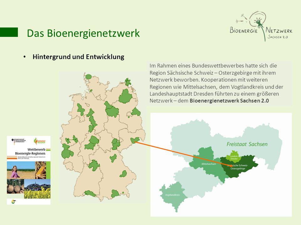 Das Bioenergienetzwerk Hintergrund und Entwicklung Im Rahmen eines Bundeswettbewerbes hatte sich die Region Sächsische Schweiz – Osterzgebirge mit ihr
