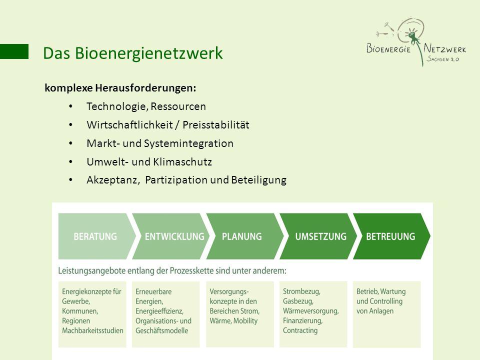 komplexe Herausforderungen: Technologie, Ressourcen Wirtschaftlichkeit / Preisstabilität Markt- und Systemintegration Umwelt- und Klimaschutz Akzeptan
