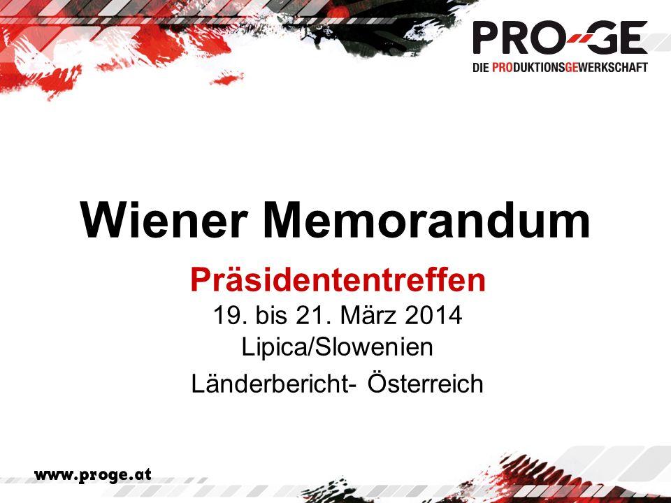 Wiener Memorandum Präsidententreffen 19. bis 21.