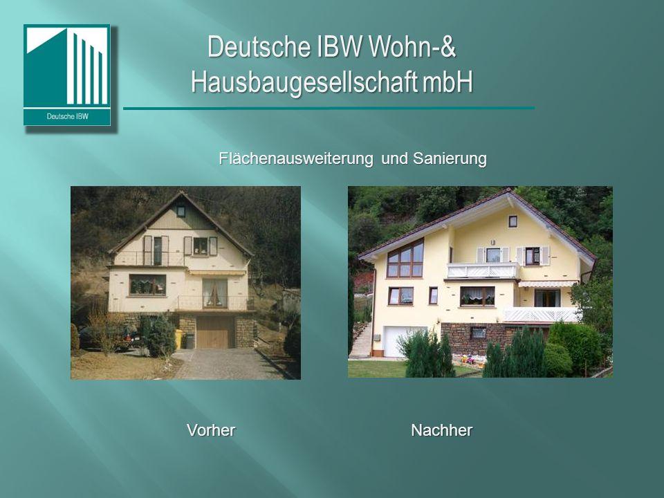Deutsche IBW Wohn-& Hausbaugesellschaft mbH Vorher Nachher BalkonRenovierungDachgeschoss