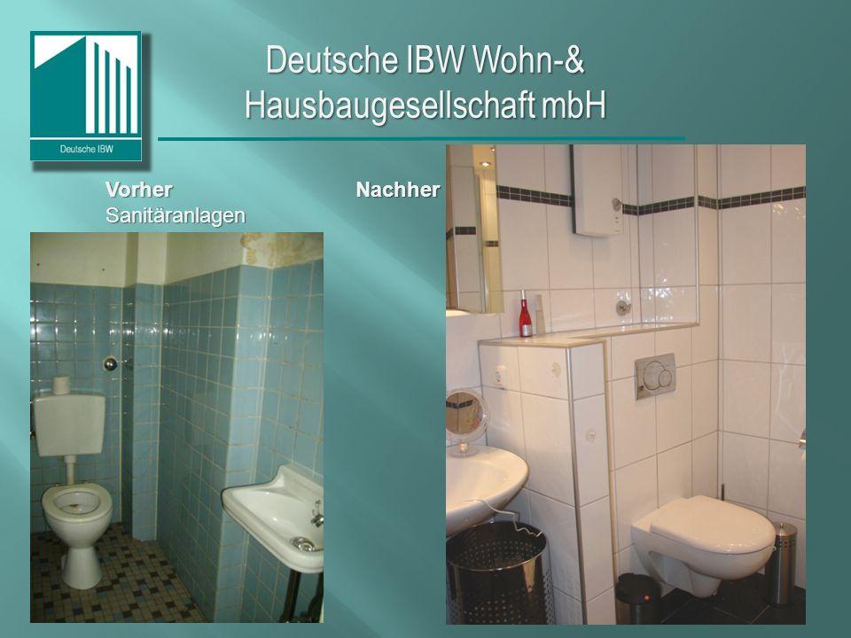 Deutsche IBW Wohn-& Hausbaugesellschaft mbH Vorher Nachher Sanitäranlagen