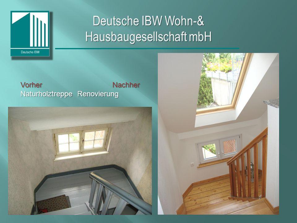 Deutsche IBW Wohn-& Hausbaugesellschaft mbH Vorher Nachher HeizungsanlageKomplettsanierungMehrfamilienhaus