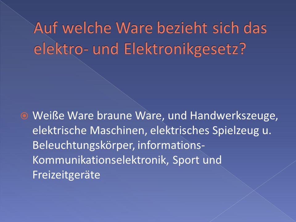 Weiße Ware braune Ware, und Handwerkszeuge, elektrische Maschinen, elektrisches Spielzeug u. Beleuchtungskörper, informations- Kommunikationselektroni