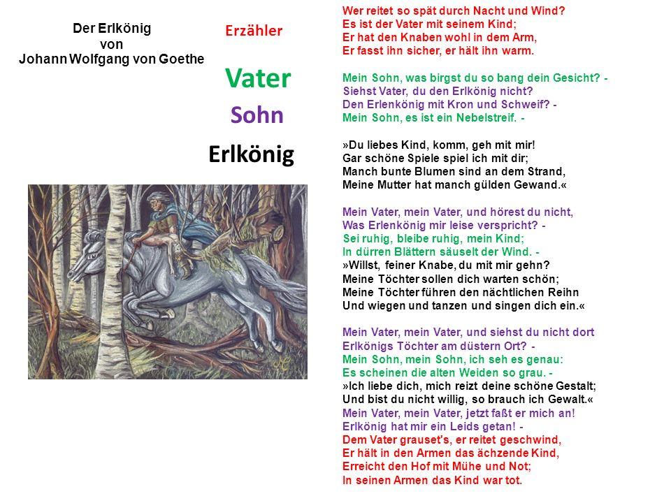 Der Erlkönig Wie heißen alle Personen im Gedicht.