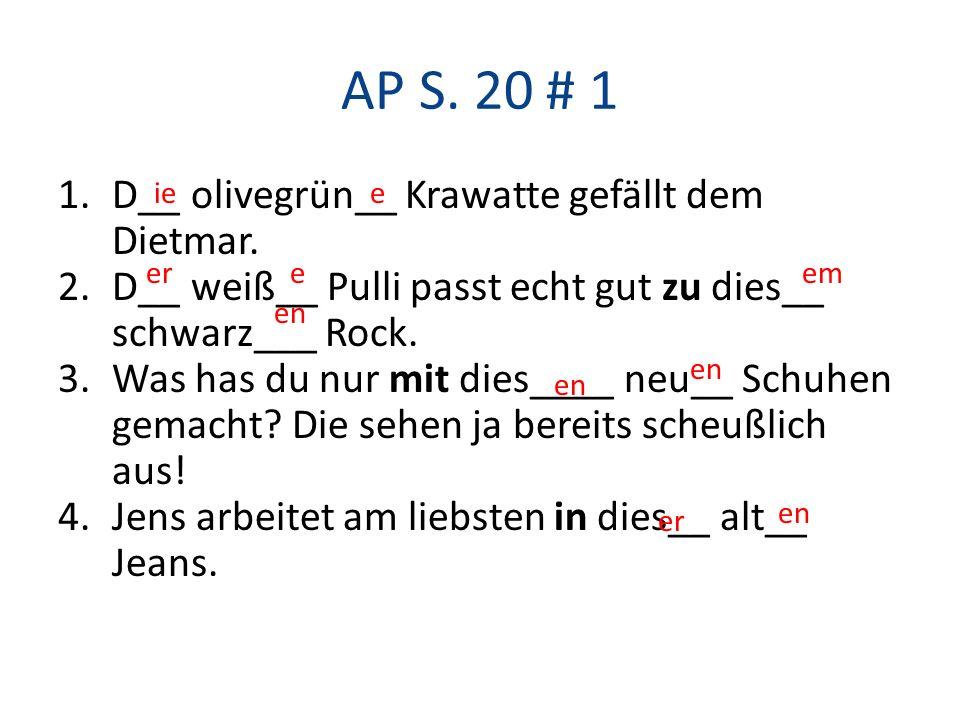 AP S.20 # 1 1.D__ olivegrün__ Krawatte gefällt dem Dietmar.