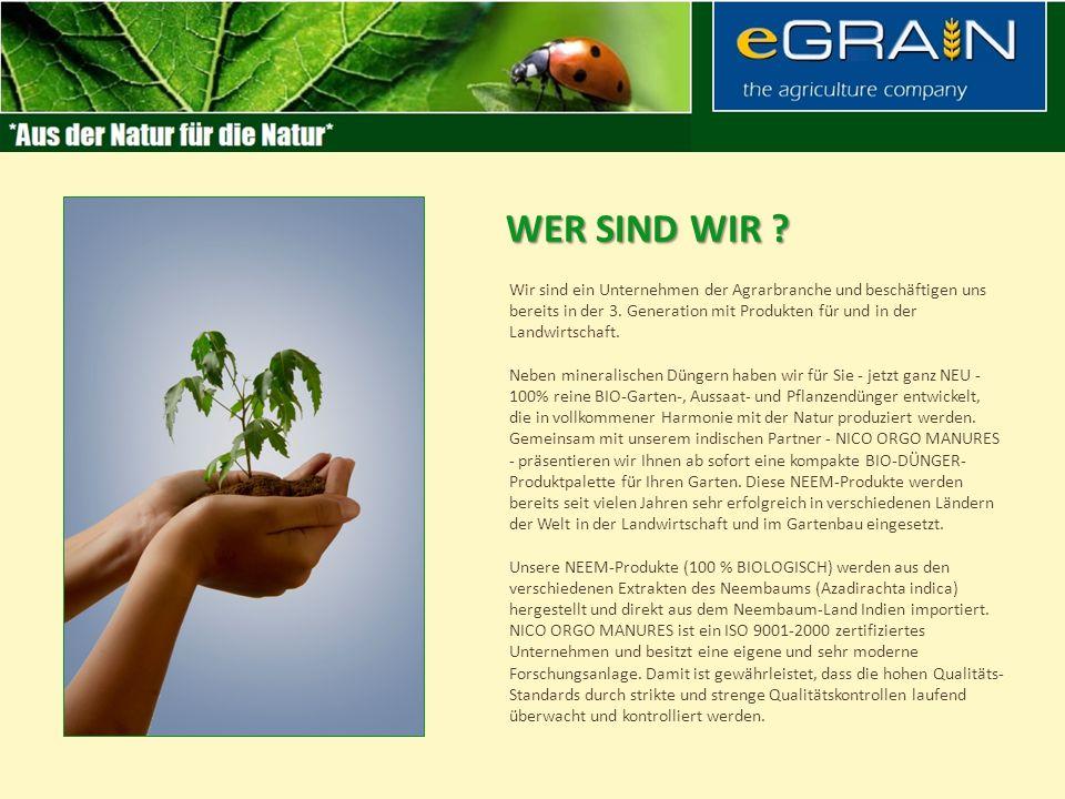 Wir sind ein Unternehmen der Agrarbranche und beschäftigen uns bereits in der 3.