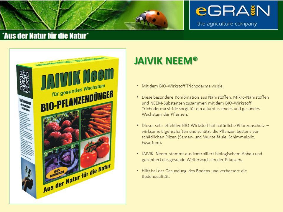 Erhöht die Produktivität und die Fruchtbarkeit des Bodens. Gibt dem Boden sehr wichtige Nähr- und Wirkstoffe und schützt die Pflanzen vor Schadinsekte