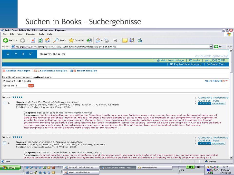 - Suchen in Books - Suchergebnisse