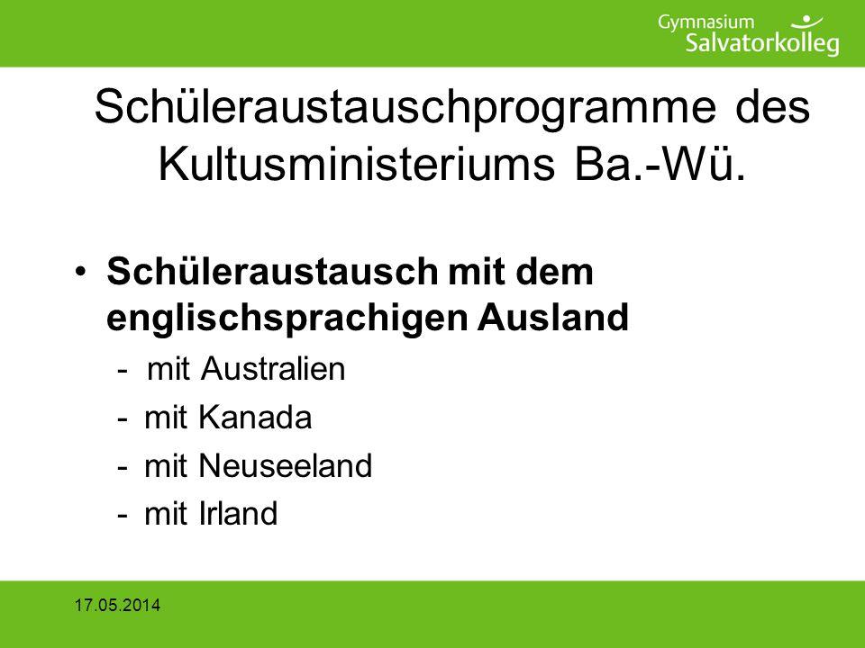 2 x 14 Tage Alsace Partnersuche –über bereits bestehende Schulpartnerschaften –Partnerschulbehörde in Strasbourg vermittelt Austauschpartner 17.05.2014