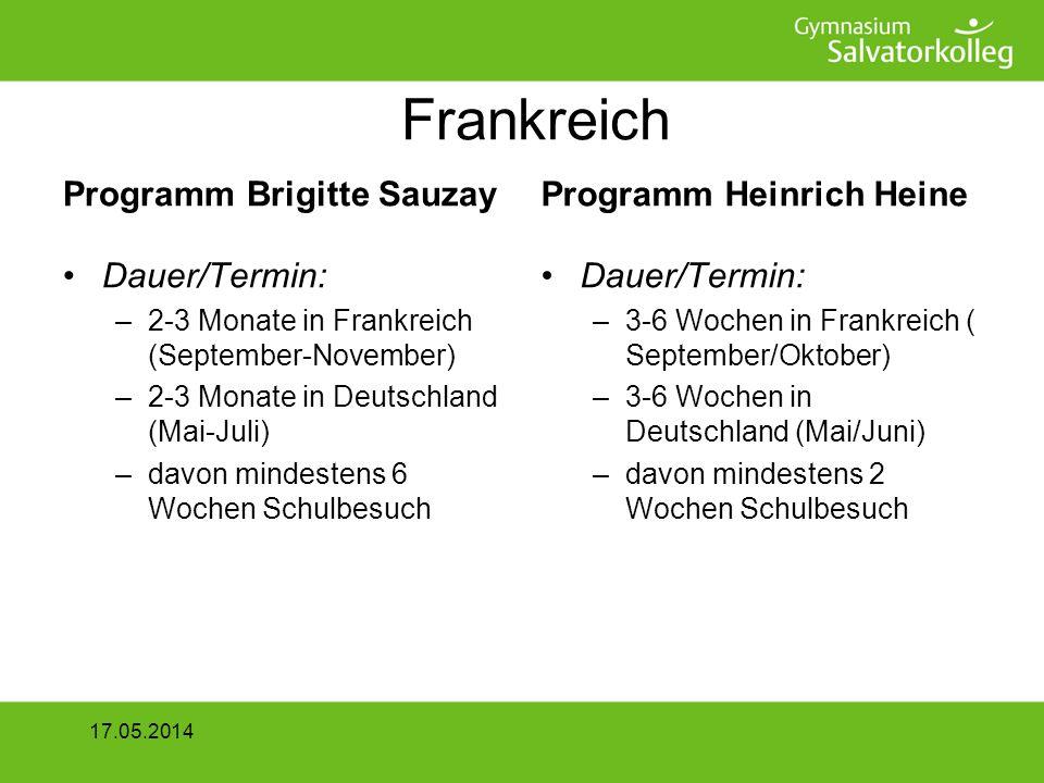 2 x 14 Tage Alsace Zu erbringende Leistung –Kurzbericht über den Austausch Zielgruppe: Schüler der Klassen 7 und 8 Bewerbungsschluss: 7.November 2008 17.05.2014
