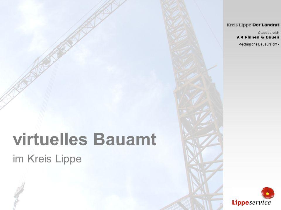 Stabsbereich 9.4 Planen & Bauen - technische Bauaufsicht - virtuelles Bauamt im Kreis Lippe