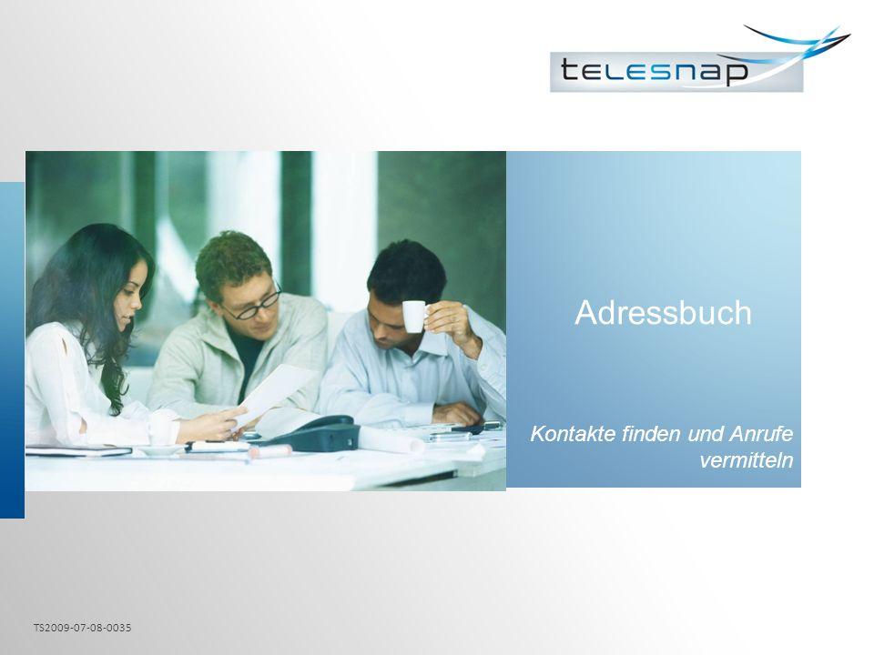 Adressbuch Kontakte finden und Anrufe vermitteln TS2009-07-08-0035