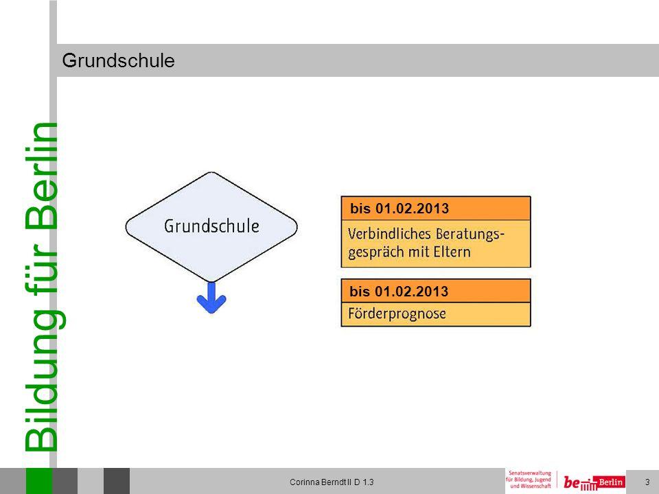 Bildung für Berlin Corinna Berndt II D 1.314 Integrierte Sekundarschule und Gymnasium im Vergleich
