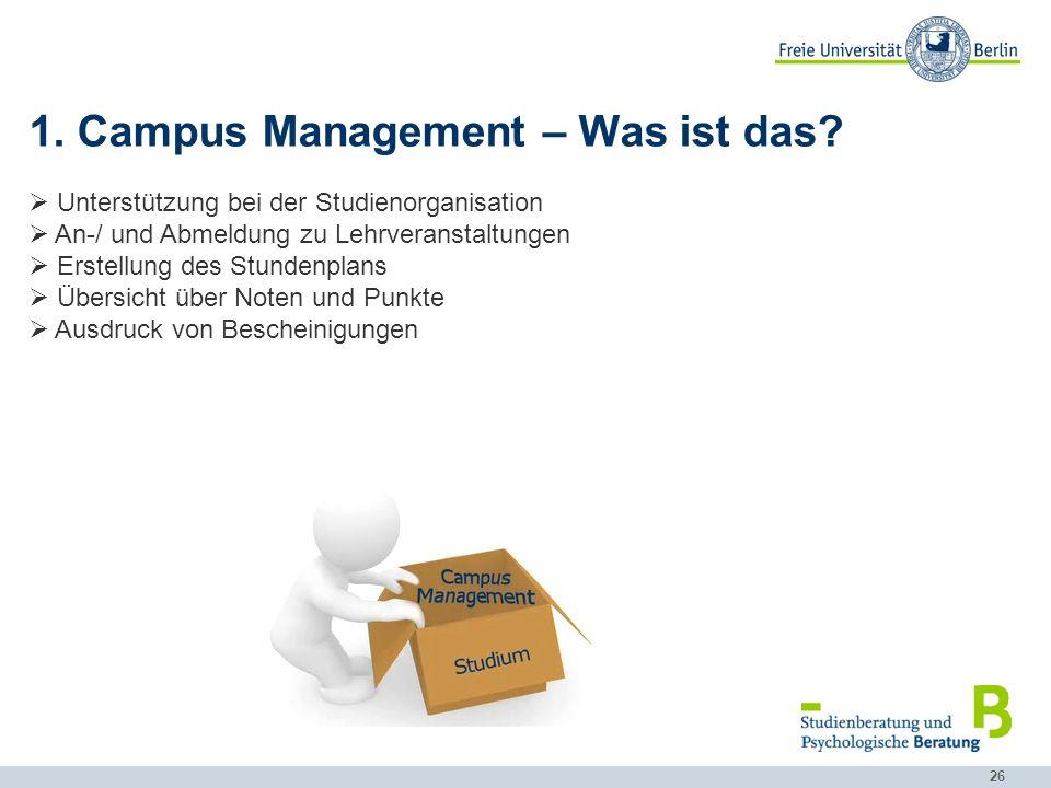 26 1.Campus Management – Was ist das.