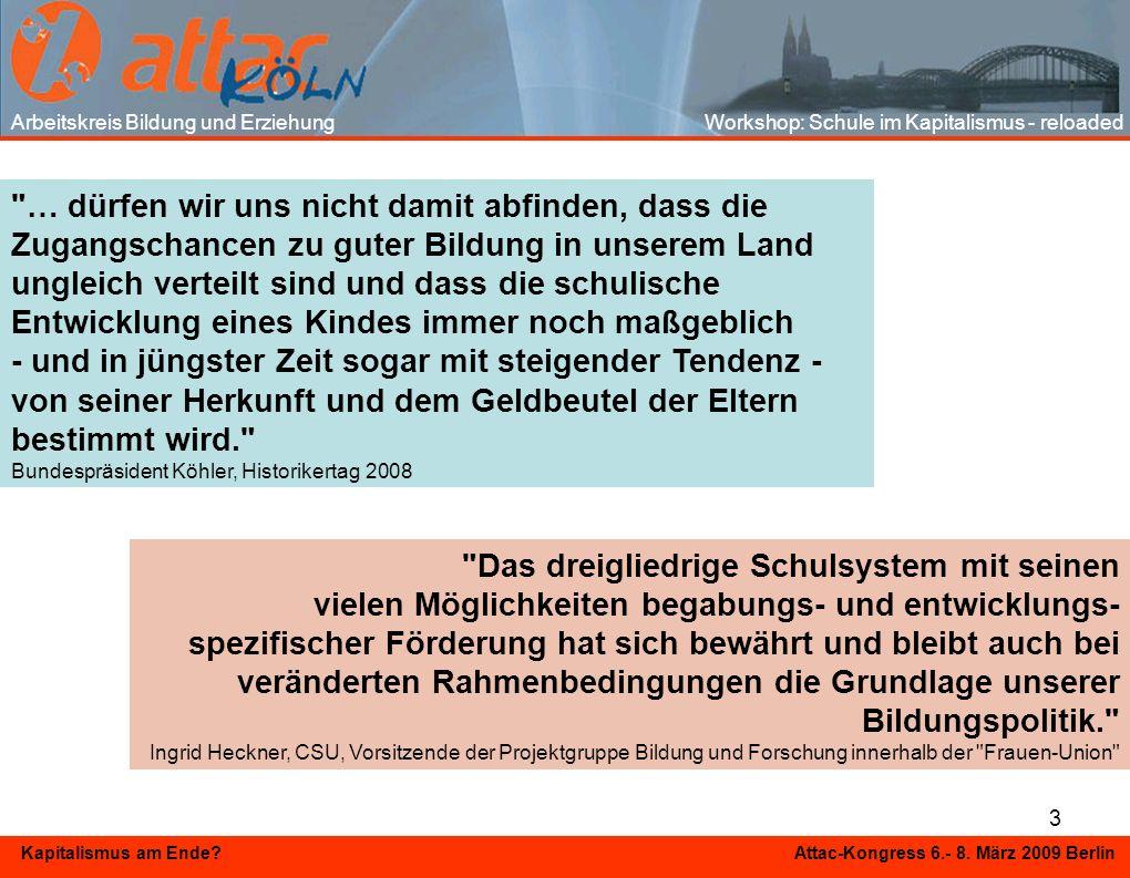 3 Kapitalismus am Ende? Attac-Kongress 6.- 8. März 2009 Berlin