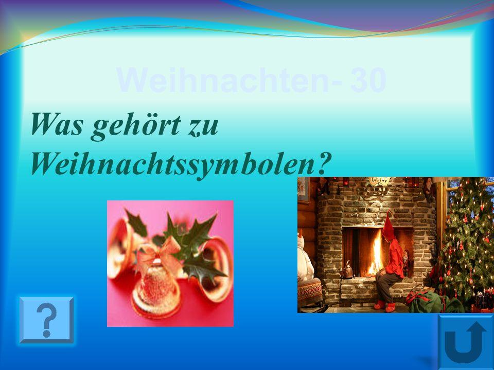 Weihnachten - 20 Wer bringt deutschen Kindern Geschenke am 6. Dezember?
