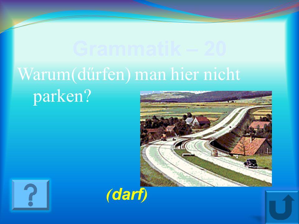Grammatik – 10 Meine Heimatstadt liegt... (bei, an, auf) der Wolga. ( an)