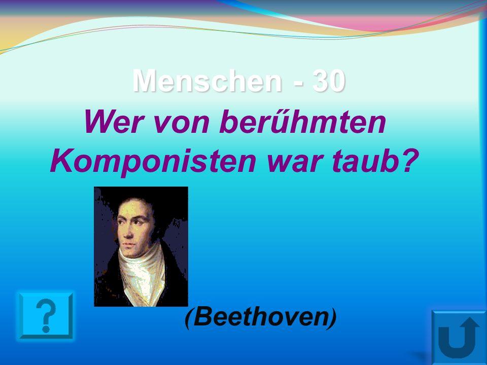 Menschen - 20 Als er 5 Jahre alt war, gab er schon Konzerte (Mozart)
