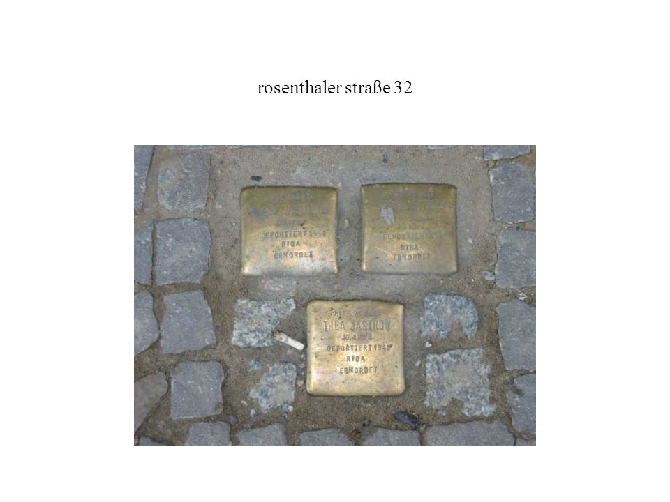 rosenthaler straße 32