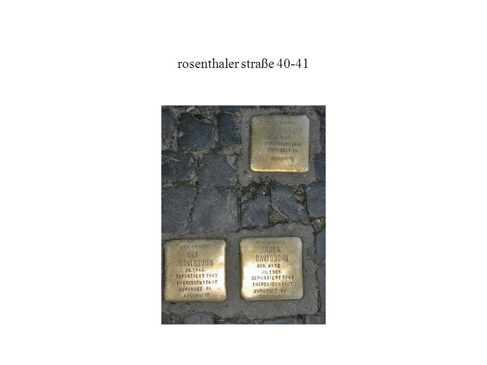rosenthaler straße 40-41