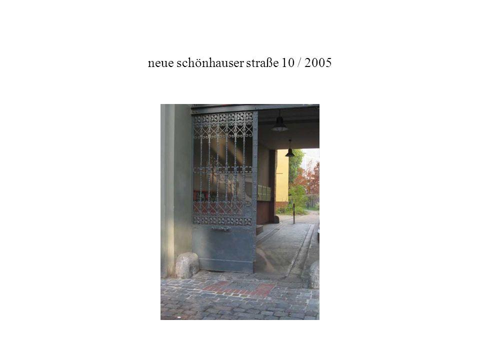 neue schönhauser straße 10 / 2005