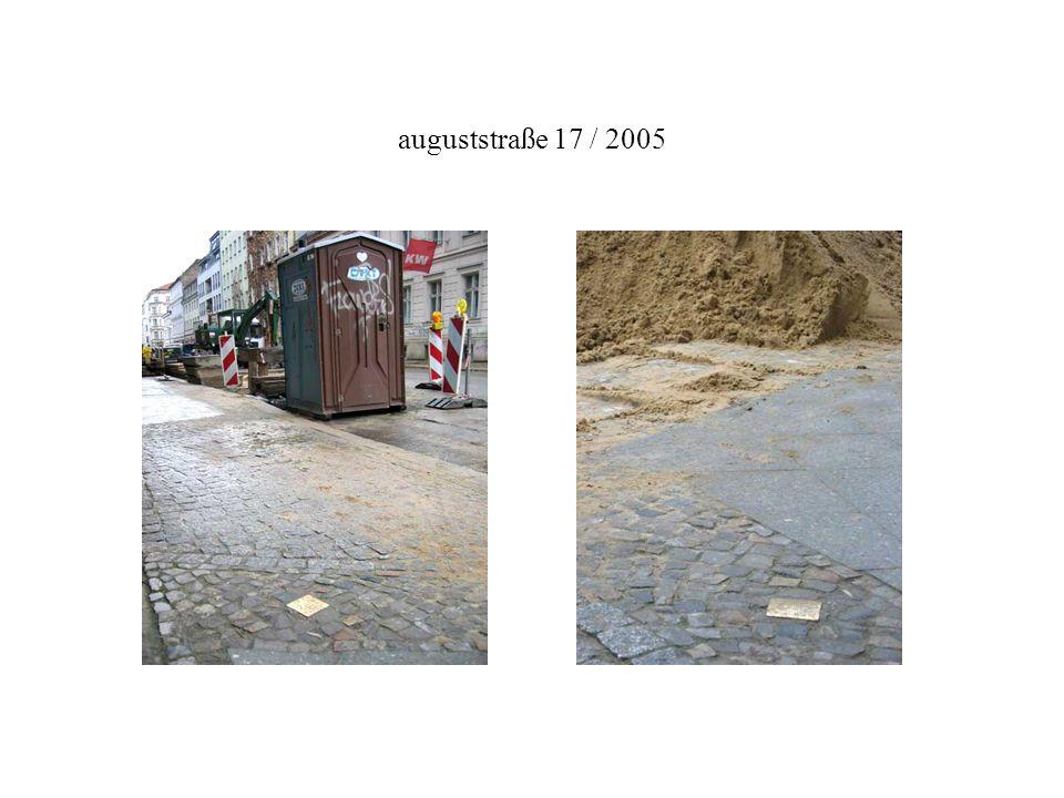 auguststraße 17 / 2005