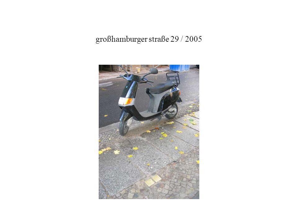 großhamburger straße 29 / 2005