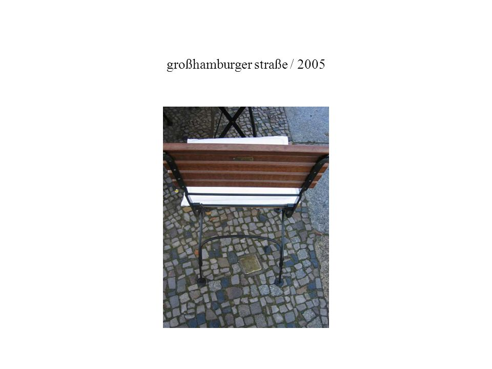 großhamburger straße / 2005