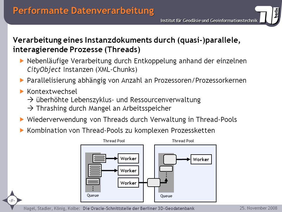 28 Institut für Geodäsie und Geoinformationstechnik Nagel, Stadler, König, Kolbe: Die Oracle-Schnittstelle der Berliner 3D-Geodatenbank 25. November 2