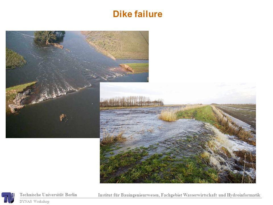 Technische Universität Berlin Institut für Bauingenieurwesen, Fachgebiet Wasserwirtschaft und Hydroinformatik DYNAS Workshop Dike failure