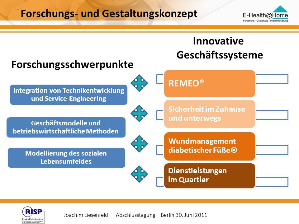 Joachim Liesenfeld Abschlusstagung Berlin 30. Juni 2011 Integration von Technikentwicklung und Service-Engineering Geschäftsmodelle und betriebswirtsc