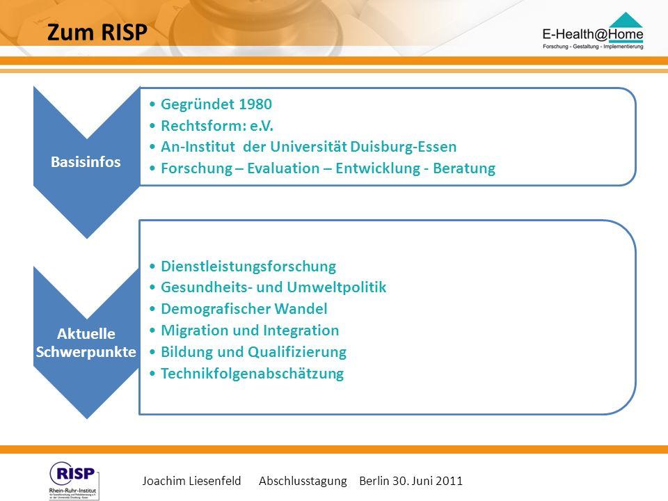 Joachim Liesenfeld Abschlusstagung Berlin 30. Juni 2011 Basisinfos Gegründet 1980 Rechtsform: e.V. An-Institut der Universität Duisburg-Essen Forschun