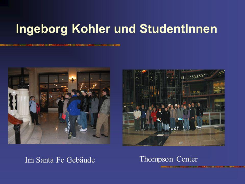Ingeborg Kohler und StudentInnen Im Santa Fe Gebäude Thompson Center