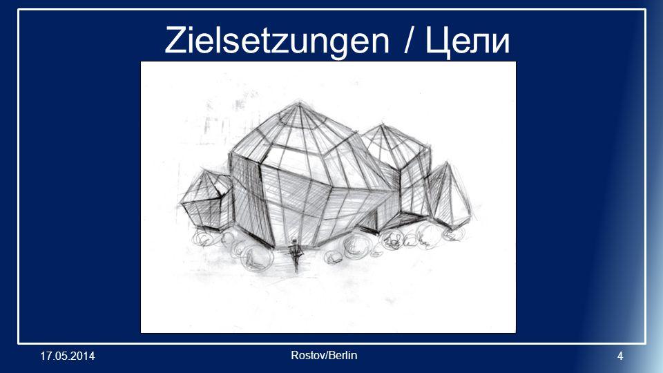 17.05.20144 Zielsetzungen / Цели Rostov/Berlin