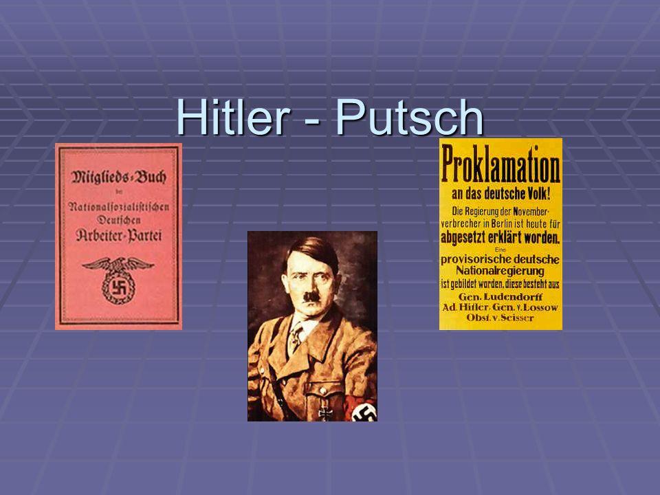 Inhaltsverzeichnis 1.Folie: Definition Putsch 1. Folie: Definition Putsch 2.
